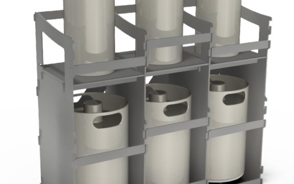 Modular Keg Rack set-up